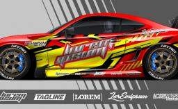 car graphic design abstract stripe racing